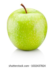 Fresh green apple isolated on a white background