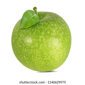 Fresh green apple isolated on white background with clipping path