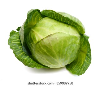 fresh green cabbage isolated on white