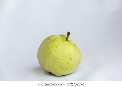 fresh green guava clean fruit on isolated background