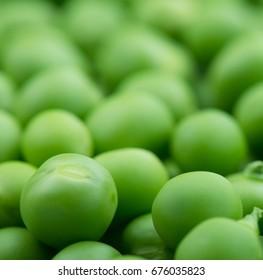 fresh green peas. Studio photo