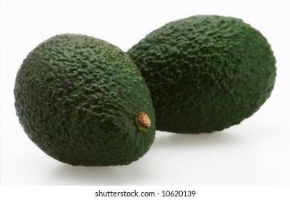 fresh green ripe organic avocado isolated vegetable