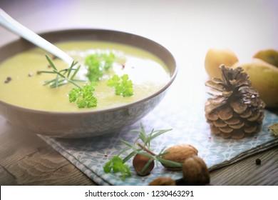 Fresh green  soup