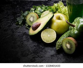 Fresh green vegetables, healthy eating concept