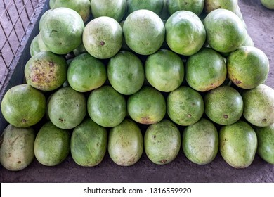 Fresh green Watermelons for sale wholesale fruitmarket in Portoviejo Ecuador