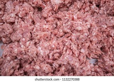 fresh grounded pork
