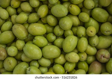 Fresh harvested olives, washed and ready to be pressed