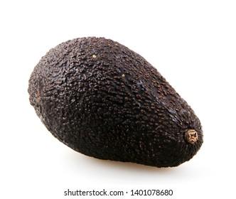 Fresh Hass Avocado Against White Background