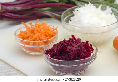Fresh and healthy  - beetroot, carrots, and white turnip