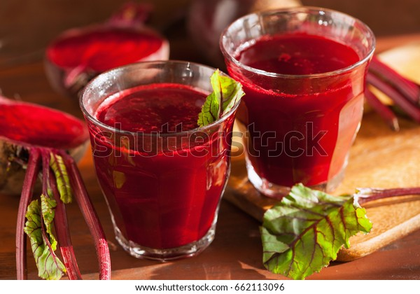 fresh healthy beetroot juice and vegetable