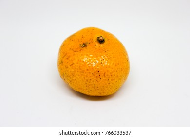 Fresh and healthy citrus fruit is suitable for those who love health. On a white background