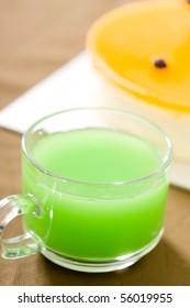 Fresh healthy fruit juices