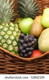 fresh healthy fruits in a basket showing the beauty of nture