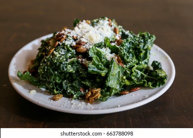 Fresh Healthy Green Kale Salad