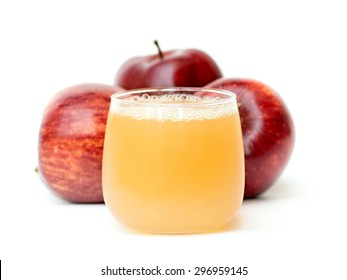 fresh and healthy natural apple juice and apples
