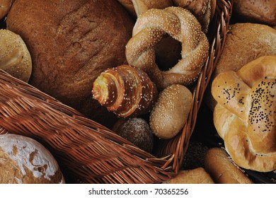 fresh healthy natural  bread food group in studio on table