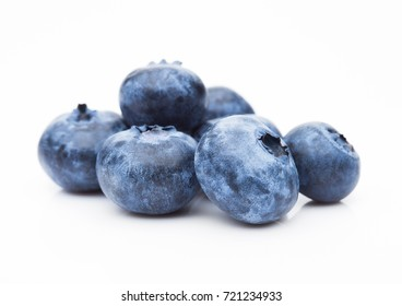 Fresh healthy organic blueberry on white background