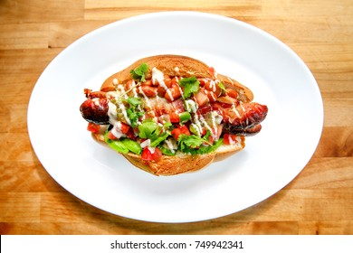 Fresh Healthy Sonoran Hot Dog
