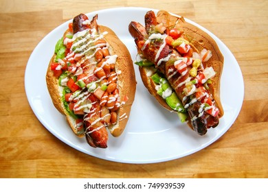 Fresh Healthy Sonoran Hot Dogs