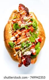 Fresh Healthy Sonoran Hot Dogs
