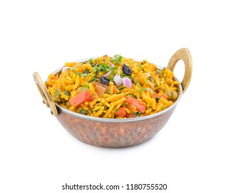 fresh and healthy Veg biryani or kashmiri pulav served in bowl