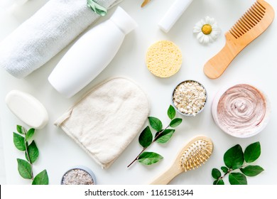 Fresh herbs,fruits and essential oil for skin care