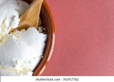 Fresh home cottage cheese.