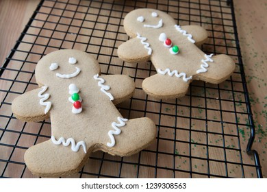 Fresh homemade gingerbread men for Christmas