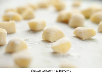 Fresh homemade potato gnocchi.  (nhoque)