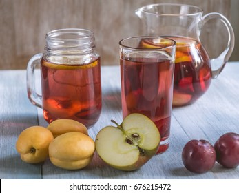 Fresh Homemade Sweet Tea from apricots, apples and plums