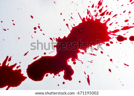 fresh human bright red blood on stock photo edit now 671195002