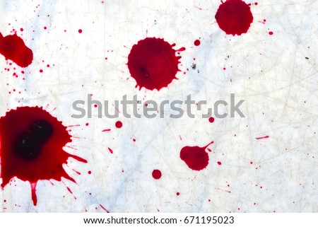 fresh human bright red blood on stock photo edit now 671195023