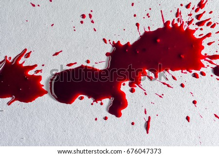 fresh human bright red blood on stock photo edit now 676047373