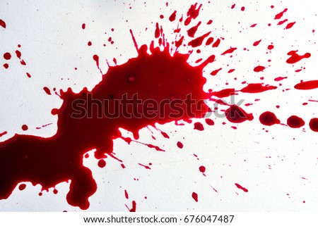 fresh human bright red blood on stock photo edit now 676047487