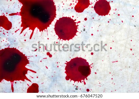 fresh human bright red blood on stock photo edit now 676047520