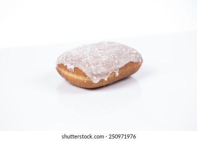 Fresh isolated donut on white background