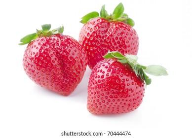 Fresh Isolated Strawberries