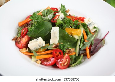 A fresh Italian cheese and vegetables salad