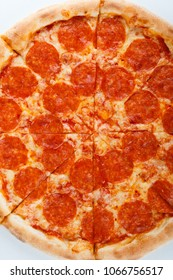 fresh italian classic original pepperoni pizza. menu design.