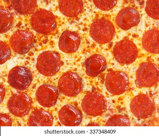 fresh italian classic original pepperoni pizza background
