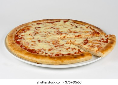 Fresh italian pizza isolated on white