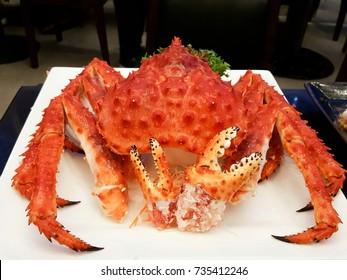 fresh japanese king crab taraba nabe