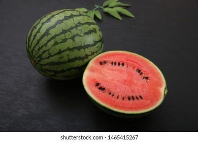 It is a fresh Japanese smallish watermelon.