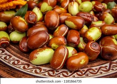 fresh jojoba fruit