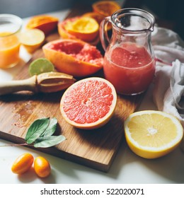 Fresh juice from citrus