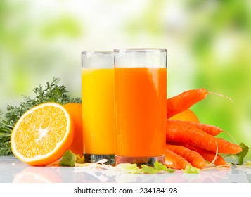 Fresh juice,Healthy drink on white table