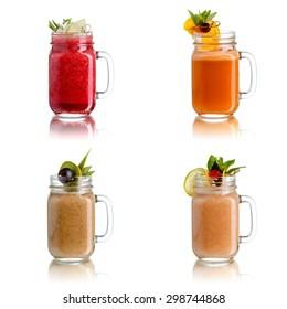 Fresh juices in jar