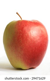 fresh juicy apple isolated on white