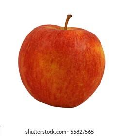 Fresh juicy apple, isolated on background