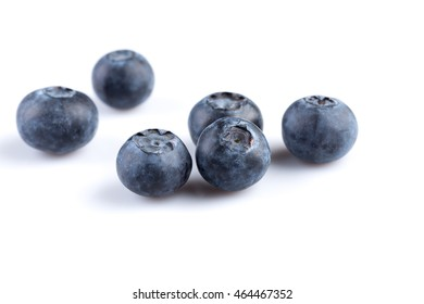 Fresh juicy blueberries isolated on white background
